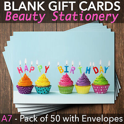 Birthday Gift Voucher Card Party Celebration Wellness Spa Beauty x50 + Env.