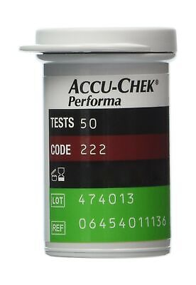 Accu Chek 50 Performa/Performa Nano Test Strips Newest Release Very Long Expi...