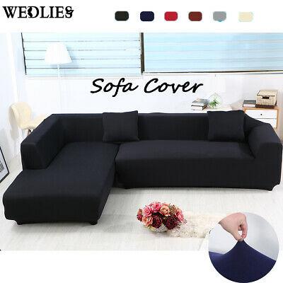High Stretch Sofa Cover Couch Lounge Protector Slipcovers Elastic Couch L Shape