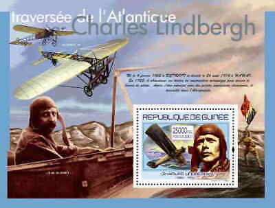 Guinea - Charles Lindbergh on Stamps -  Stamp S/S  - 7B-569