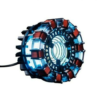 1:1 Iron Man Tony DIY Arc Reactor Lamp Light Kits Or Builted Model Collection