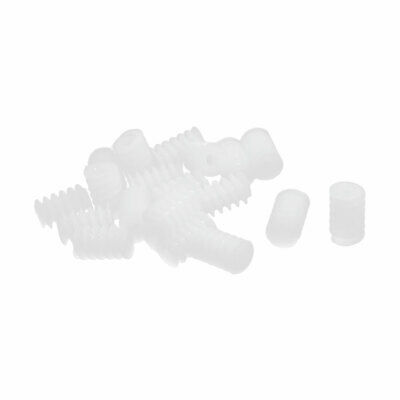 20 Pcs 2mm Hole 6mm x 9.5mm Plastic Worm Gear for DIY Toy Motor Reduction Box
