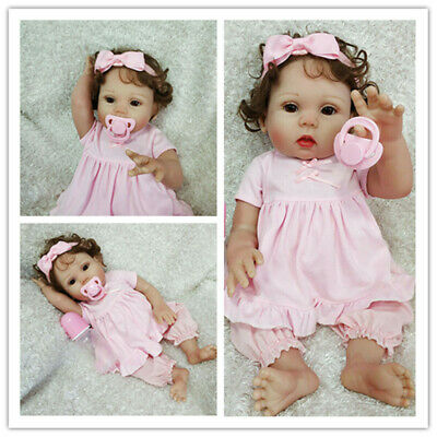 "16""Newborn Lifelike Reborn Baby Doll Full Body Silicone Vinyl Anatomically Girl"