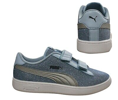 PUMA SMASH V2 Paillettes Glamm V Ps Junior Fille Chaussure