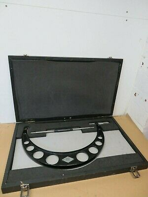 """Moore & Wright No. 1971 14"""" - 15"""" External Outside Micrometer VGC In Box ME2098"""