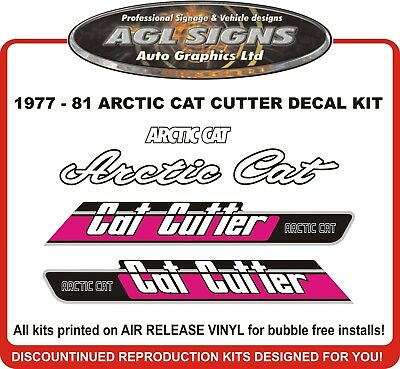 1977 - 1981  ARCTIC CAT  CAT CUTTER  Reproduction Decal Kit  graphics stickers