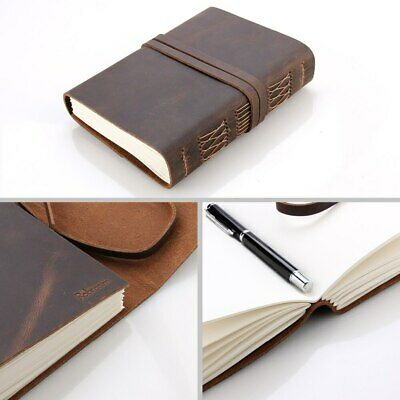 Leather Journal Travel Notebook, Handmade Vintage Leather Bound for Men & Women