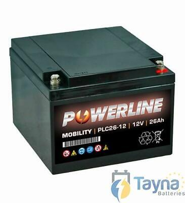 PLC26-12 Powerline Mobility Batterie 12V 26Ah