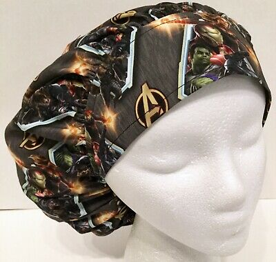 5628b70c0bfd5 Avengers Print Size Large Medical Bouffant Scrub Cap Surgery Hat
