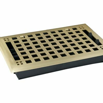 Madelyn Carter Artisan Brushed Brass Floor and Wall Wall and Floor Vent Covers