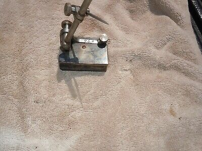 Vintage The LS Starrett Co. SMALL Dial Indicator Holder Machinist Tool Base USA