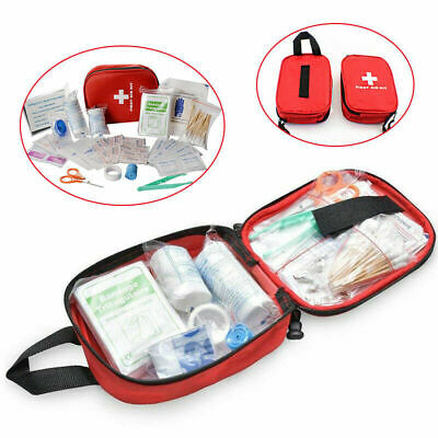 Portable First Aid Bag Medical Emergency Kit Outdoor Sports Travel Survival Box