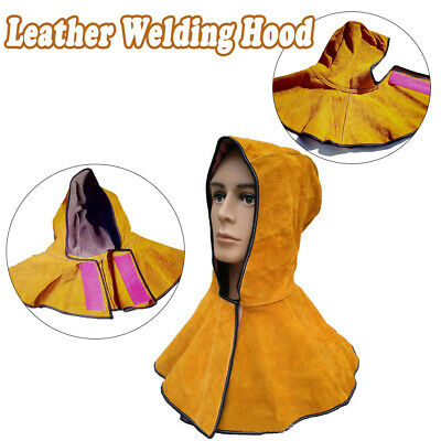 New Heavy-Duty Leather Welding/Welder Work Flame Spark Safety Hood/Cover - Y006