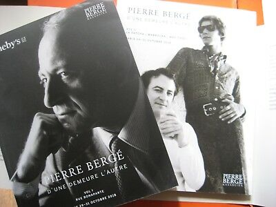 Sotheby's PIERRE BERGE  Estate auction two volume catalogs 2018 of october 29 31