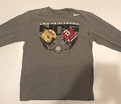 Nike LSU vs Alabama 2012 Longsleeve MENS Tee Size Medium
