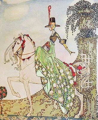 EXRare KAY NIELSEN 1ST EDN 12 Dancing Princesses BEAUTY! TIPPED-IN COLOR PLATES!
