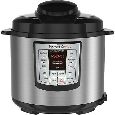 Instant Pot LUX60 6 Qt 6-in-1 Multi-Use Programmable Pressure Cooker, Slow Cooke