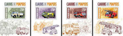 Niger - Fire Engines - 4 Stamp Set - 14A-191