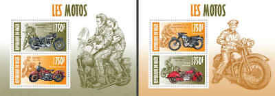 Niger - Motorcycles - 2 Two Stamp Sheets - 14A-210
