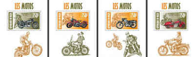Niger - Motorcycles - 4 Stamp Set - 14A-211