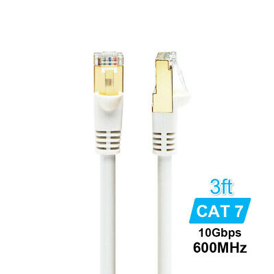 Cat7 10Gbps Ethernet Cable Lan Network RJ45 Patch Cable Cord For PC Laptop CN48