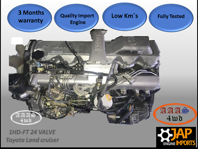 1HDFT / 1HD-FT/ 1HD FT Toyota Landcrusier Complete Factory Turbo Engine 24 Valve