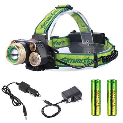 Camping Hunting 90000Lm 5X  X-XM-L T6 LED USB Headlamp Headlight Head Torch GL