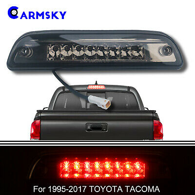 For 1995-2017 TOYOTA TACOMA Dual Row 3rd Brake Light Cargo Lamp Smoke Lens