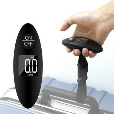 90lb Portable Electronic Digital Luggage Scale in Black With Battery New Brand