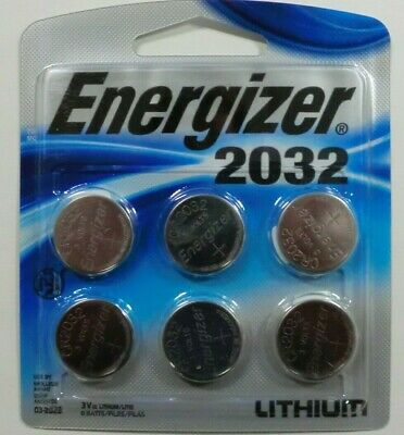 ENERGIZER 3 Volt Watch Batteries Lithium 3v CR2032 Battery pack of 6 count NEW