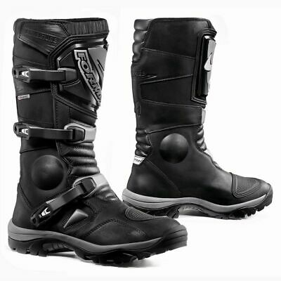 Forma Adventure motorcycle boots, mens, black waterproof adv road touring gear