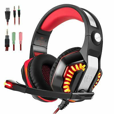 Gaming Headset Stereo Over-Ear Headphone with Mic&Volume Control for PC XBOX ONE