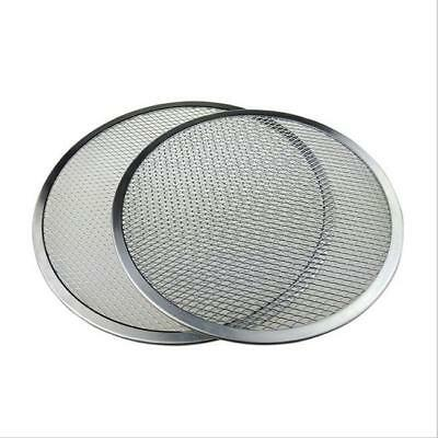 Seamless Aluminum Pizza Screen Mesh Oven Baking Tray Round Pizza Plates RF