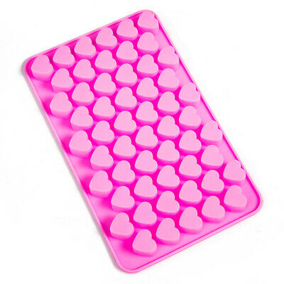 55 Sweet Hearts Silicone Mould Chocolate Jelly Gummy maker Jelly Ice Candle Melt