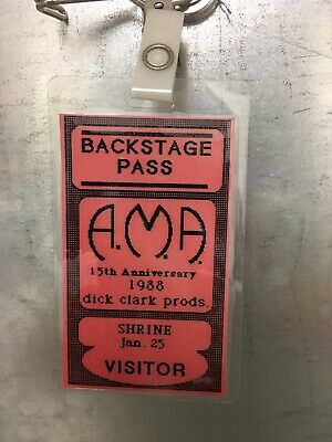 1988 American Music Awards Backstage Pass: Dick Clark Productions