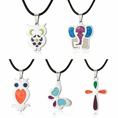 Stainless Steel Butterfly Elephant Animals Pendant Lady Charm Necklace Jewellery