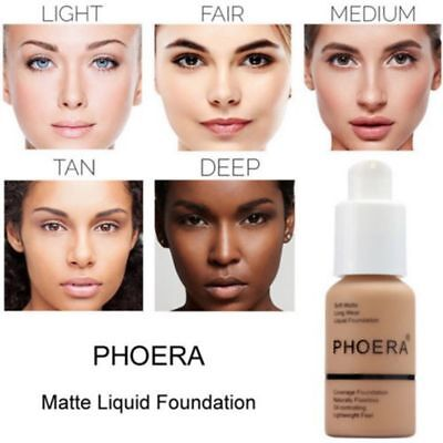PHOERA Liquid Foundation Cosmetic Moisturizing Longlasting Oil-Controlling Hot