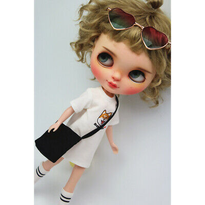 Adorable Girl Doll T-shirt Outfits for 12'' Blythe Dolls Casual Wear Clothes