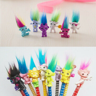 6pcs Vintage Lucky Troll Doll Mini Figures Toy for Cake Toppers Party Favors