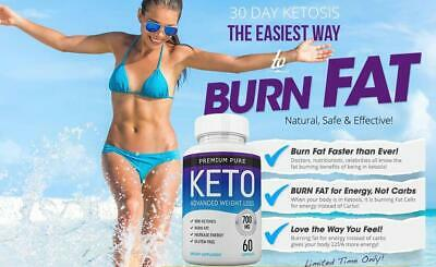 Premium  Pure Keto Advanced Weight Loss 60 Capsules - Free Fast Shipping