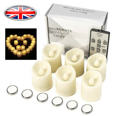 Candle with Remote Lights Control Tea Flame Ivory Timer Flickering Battery LED