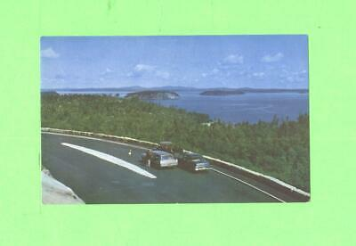 Aa Postcard Frenchman S Bay And Bar Harbor Acadia National Park Old Car On Road