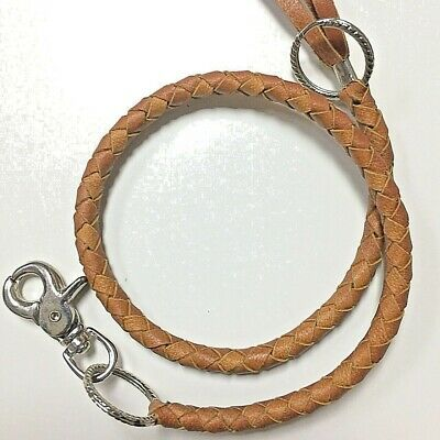 30/' Vintage Handmade Long Strong Biker Trucker 5mm Leather Key Jean Wallet Chain