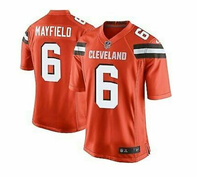 06ee2260 Baker Mayfield #6 Cleveland Browns Men's Jersey Authentic stitched Color  Orange