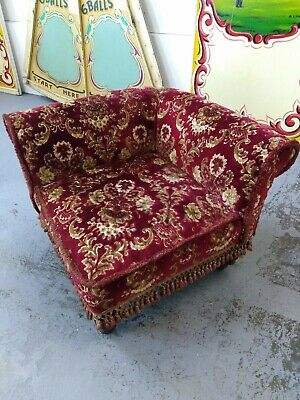 Vintage Victorian style Corner chair, velvet brocade, arm chair, lounge,interior