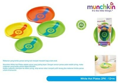 Munchkin White Hot Toddler Plates, Multi-Colour, Pack of 2  FREE P+P RRP £12.99