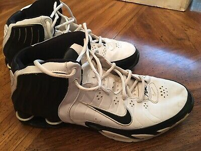 new style c2a24 0ea3d Mens Nike Shox White Leather Athletic Running Shoes Flight Zoom size 10