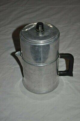 Vintage COMET Aluminum 6 CUP Stovetop COFFEE POT PERCOLATOR Camping Hunting Fire
