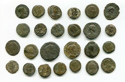 Lot of 25 Actual Cleaned Roman coins from Late Roman Empire between 300-400 AD
