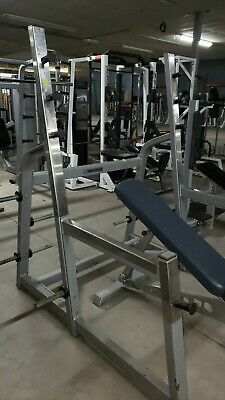Used Squat Rack >> Squat Rack Used Preowned Plate Storage White Cage Power Half Weight